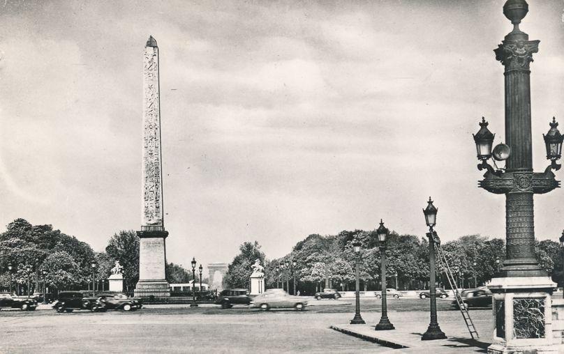 RPPC Obelisk - Place de la Concorde, l'Obelisque - Paris, France - pm 1953 - Real Photo