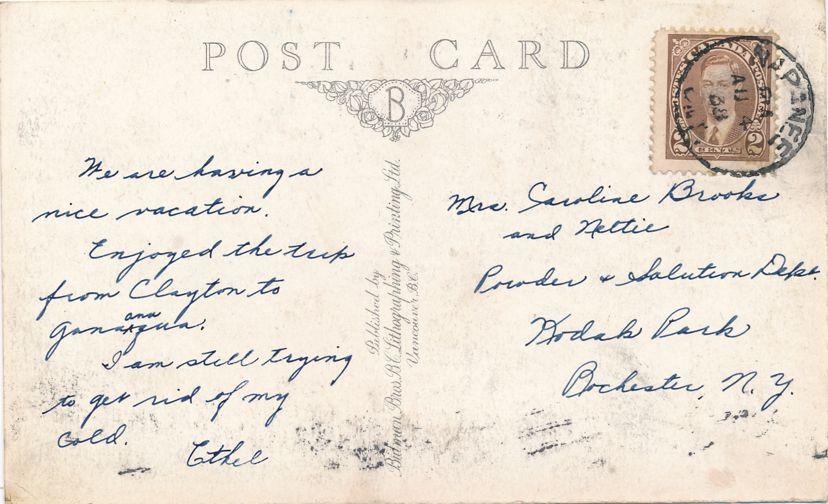 Post Office at Napanee, Ontario, Canada - pm 1938