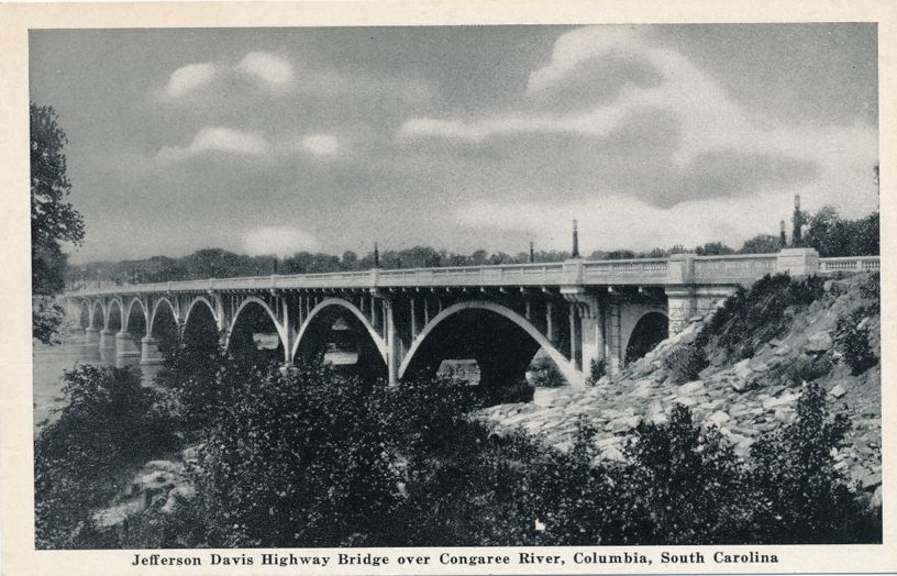 Jefferson Davis Highway Bridge over Congaree River - Columbia, South Carolina