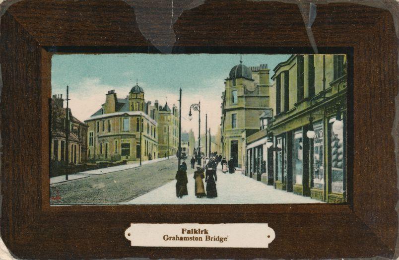 Grahamston Bridge at Falkirk, Scotland, United Kingdom - pm 1908 - Divided Back