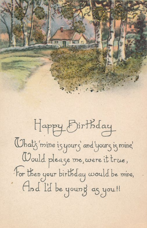Birthday Greetings - What's mine is Yours and your is mine - Divided Back
