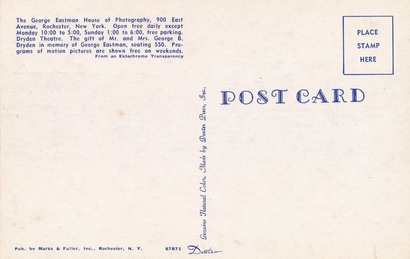 US 1062 FDC July 1954 - Dryden Theater at George Eastman House, Rochester, New York