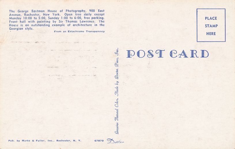 US 1062 FDC July 1954 - Front Hall at George Eastman House, Rochester, New York