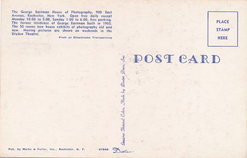 US 1062 FDC July 1954 - George Eastman House of Photography, Rochester, New York
