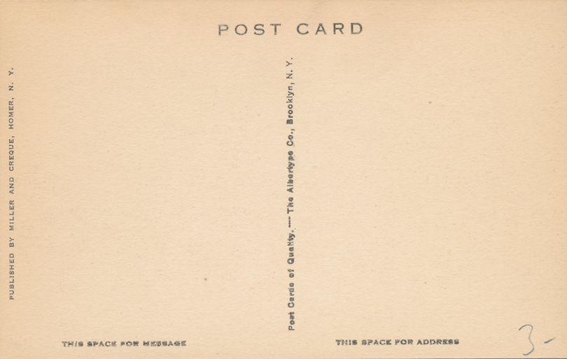 Homer, Cortland County, New York - David Harum Tavern - Albertype