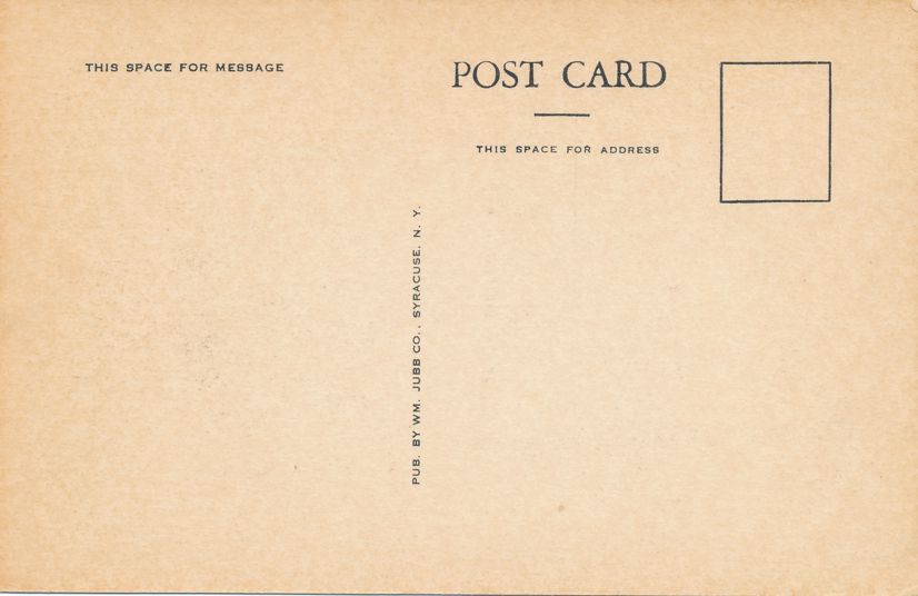 Homer, Cortland County, New York - Phillips Public Library - White Border