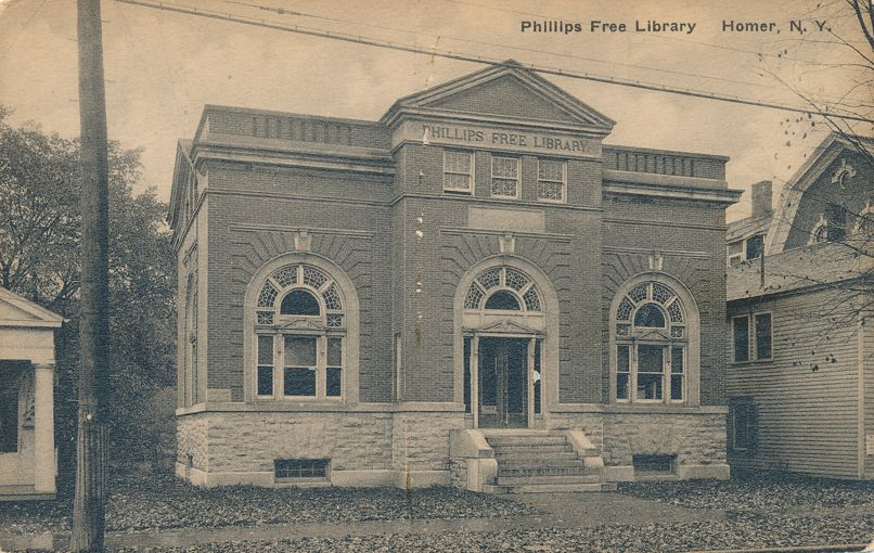 Homer, Cortland County, New York - Phillips Free Library by Albertype