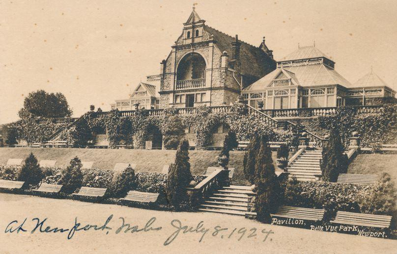 Pavilion at Belle Vue Park - Newport in South Wales - United Kingdom - Divided Back