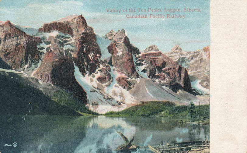Lake in Valley of Ten Peaks - Laggan, Alberta, Canada - pm 1907 at Grand Bay NB - Divided Back