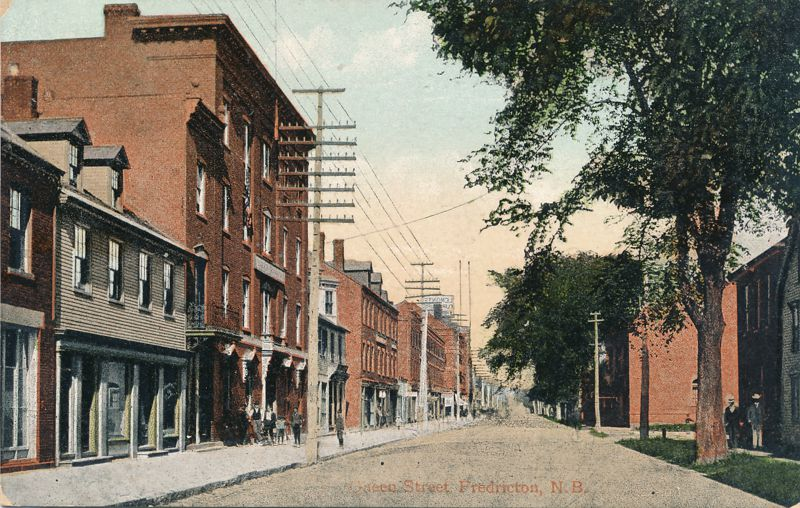 Queen Street - Fredericton, New Brunswick, Canada - pm 1909 - Divided Back