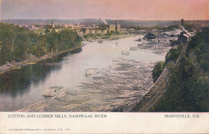 Cotton and Lumber Mills along Nashwaak River - Marysville, New Brunswick, Canada