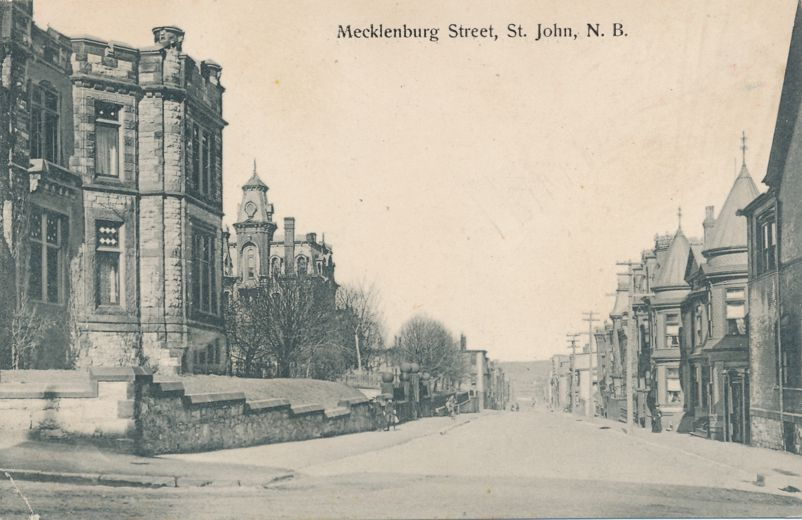 Mecklenburg Street in Saint John, New Brunswick, Canada - pm 1908 - Divided Back