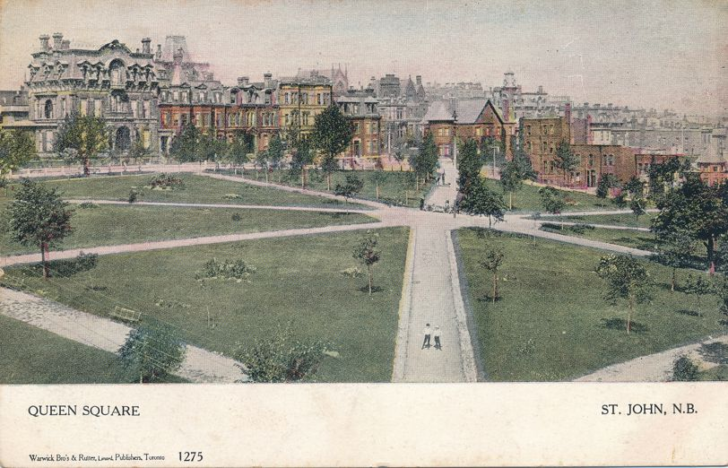 Queen Square at Saint John, New Brunswick, Canada - pm 1906 at Fredericton NB