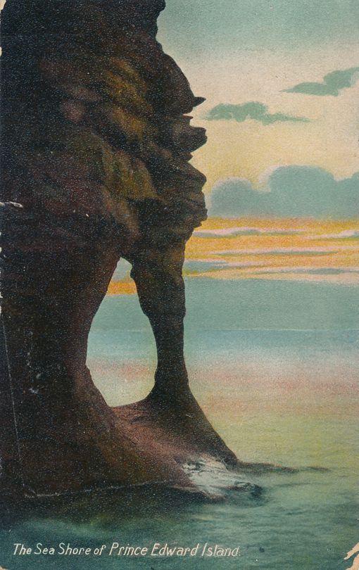 Sea Shore at Sunset, Prince Edward Island, Canada - pm 1907 at Wolfville NS