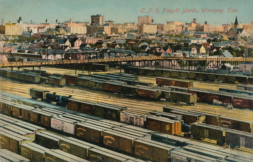 CPR Canadian Pacific Railroad Freight Yard - Winnipeg, Manitoba, Canada