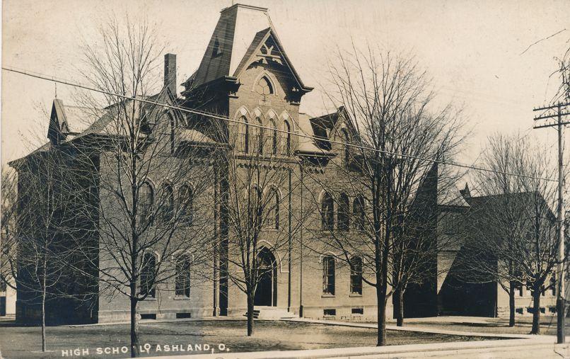 RPPC High School at Ashland, Ohio - pm 1908 - Real Photo