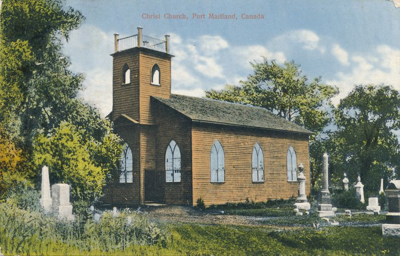 Cemetery at Christ Church - Port Maitland, Ontario, Canada - Mailed- Divided Back