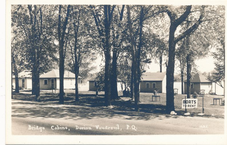 RPPC Bridge Cabins at Dorion Vaudreuil , Quebec, Canada - Real Photo