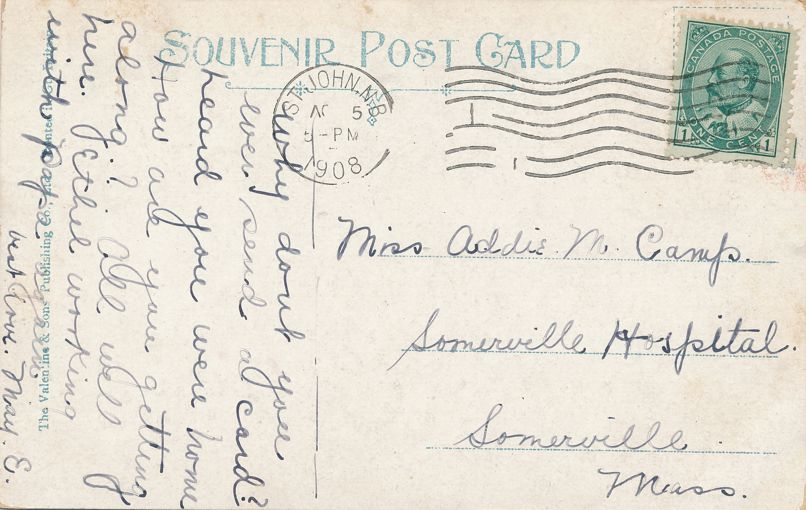The Bore on Petitcodiac River - Moncton, New Brunswick, Canada - pm 1908 at St John NB