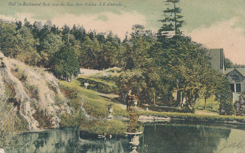 Pool in Rockwood Park near Bear Den - St John, New Brunswick, Canada - pm 1907
