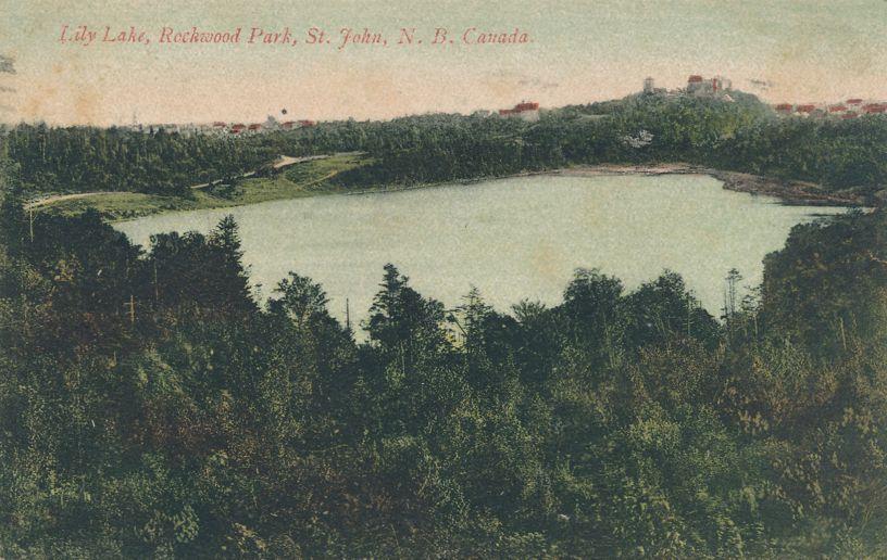 Lily Lake in Rockwood Park - St John, New Brunswick, Canada - pm 1906