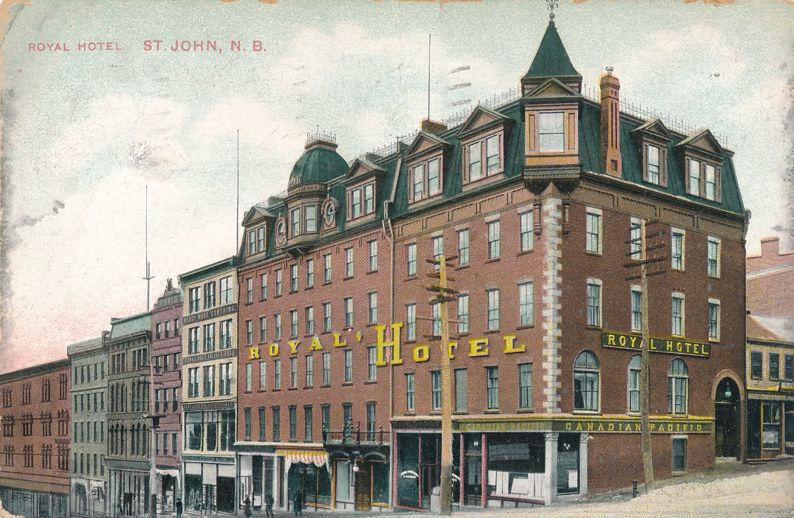 Royal Hotel at St John, New Brunswick, Canada - pm 1909 - Divided Back