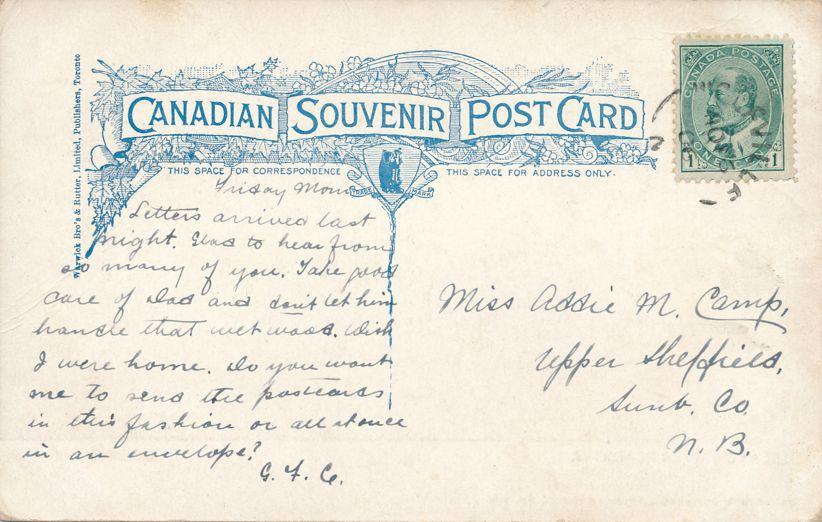 Avon River in Winter - Windsor, Nova Scotia, Canada - pm 1906 at Maugerville NB