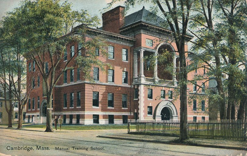 Manual Training School - Cambridge, Massachusetts - pm 1908 - Divided Back