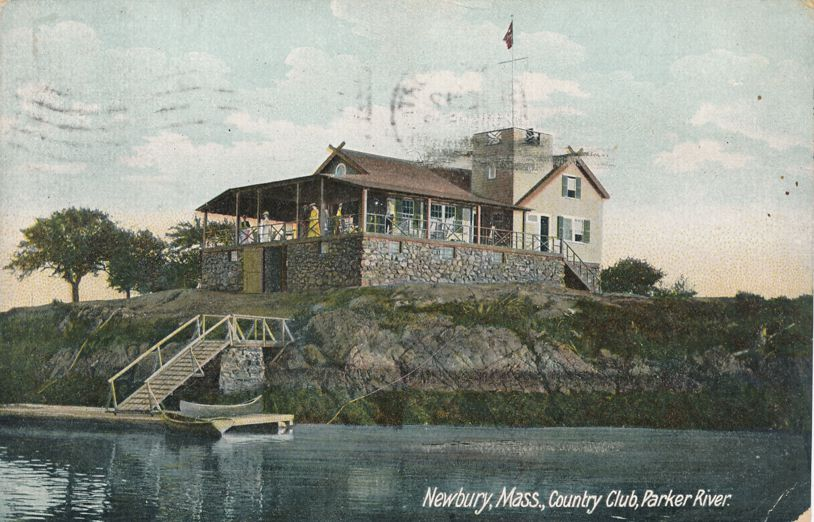 Country Club on Parker River - Newbury, Massachusetts - pm 1910 at Newburyport - Divided Back