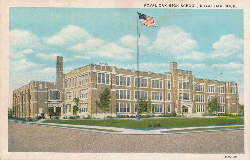 Royal Oak High School at Royal Oak, Michigan - White Border