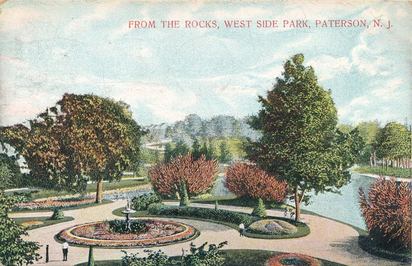 View from The Rocks - West Side Park - Paterson, New Jersey - pm 1910 at Rutherford NJ  - Divided Back