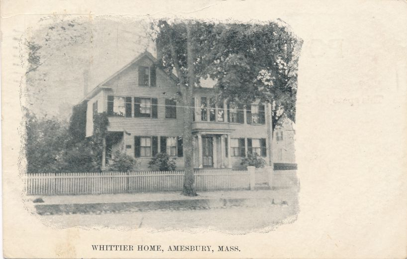 Whittier Home - Amesbury, Massachusetts - pm 1910 - Divided Back