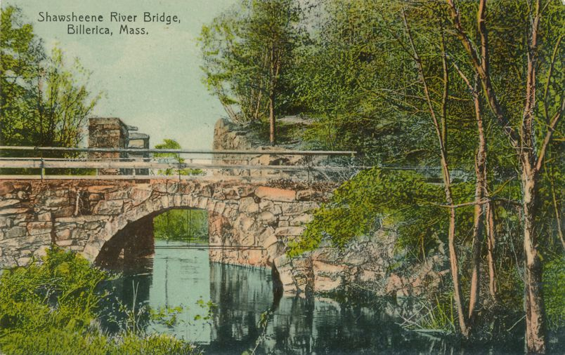Shawsheene River Bridge - Billerica, Massachusetts - pm 1910 - Divided Back