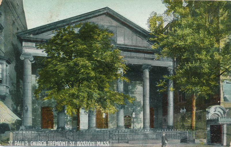 St. Paul's Church on Tremont Street - Boston, Massachusetts - RPO 1910 - Divided Back