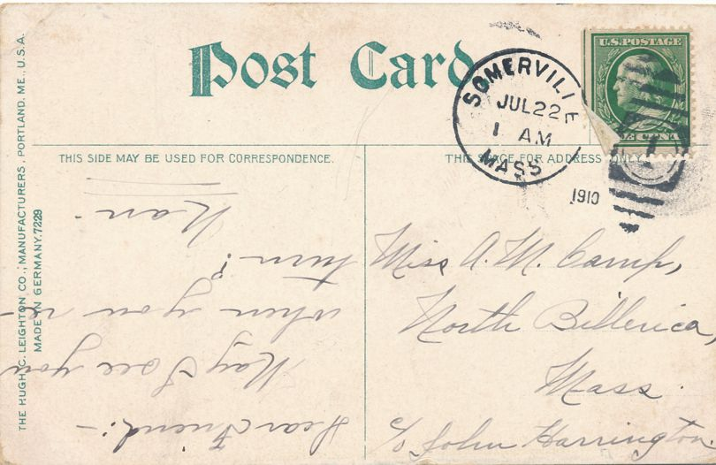 Old Tufts House - HQ Maj Gen Lee 1775-6 - Somerville, Massachusetts - pm 1910 - Divided Back