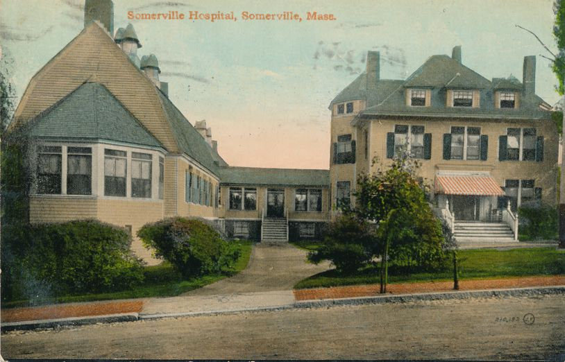 Somerville, Massachusetts - Hospital - pm 1910 - Divided Back