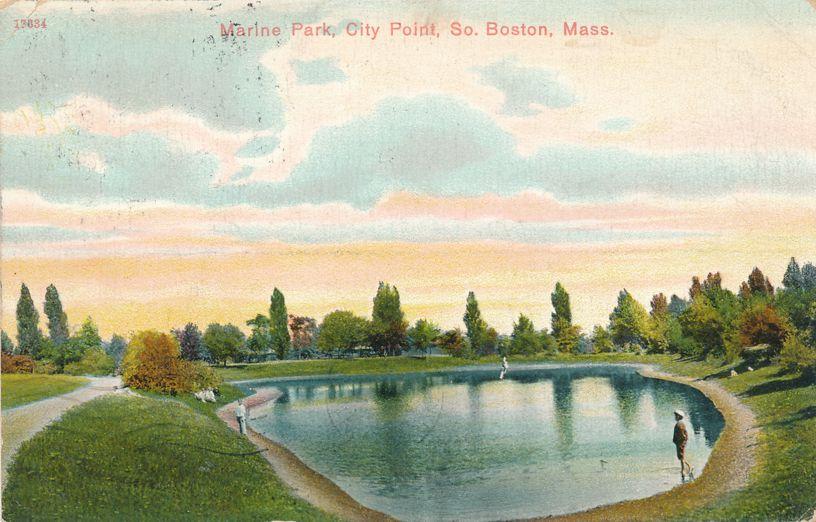 Marine Park at City Point - South Boston, Massachusetts - pm 1908 - Divided Back