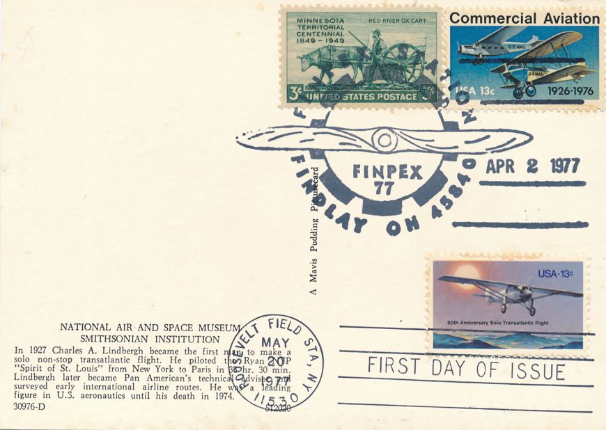 US #1710 - FDC Spirit of St Louis - US# 1684 Pictoral Cancel FINPEX Findlay OH 1977