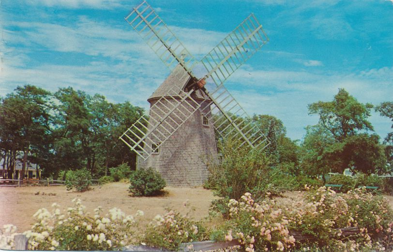 Oldest Windmill on Cape Cod at Eastham, Massachusetts - pm 1961 at Hyannis MA