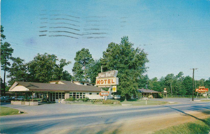 Pine Bluff Motel and Plantation Embers Restaurant, Arkansas - pm 1962