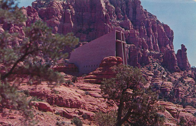 Chapel of the Holy Cross - Sedona, Arizona - pm 1968 at Grand Canyon AZ