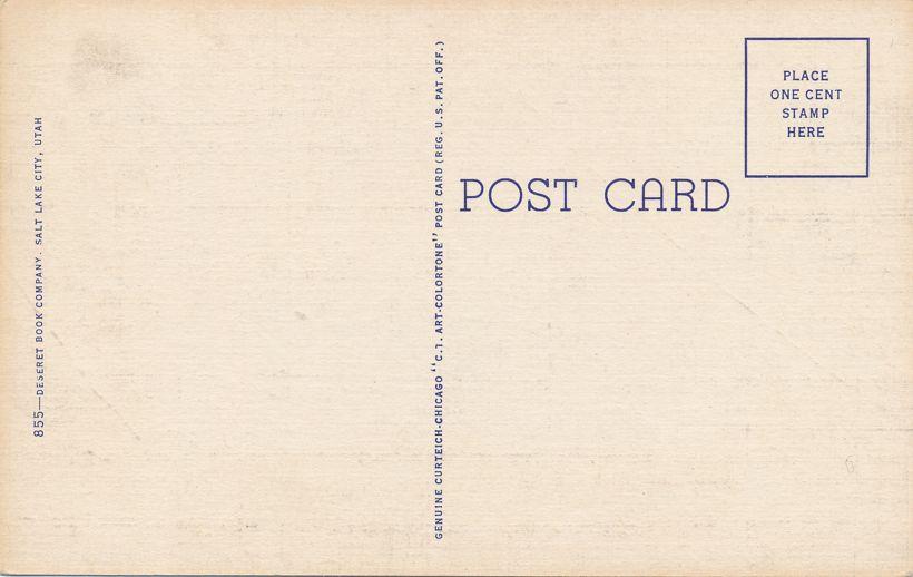 Minnie Hardy Poem Greetings from Utah - Linen Card