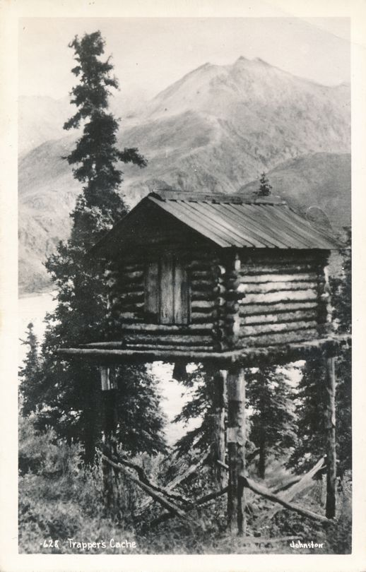 RPPC Trappers Cache in Alaska (Entry may be a little tricky) - Johnston Real Photo
