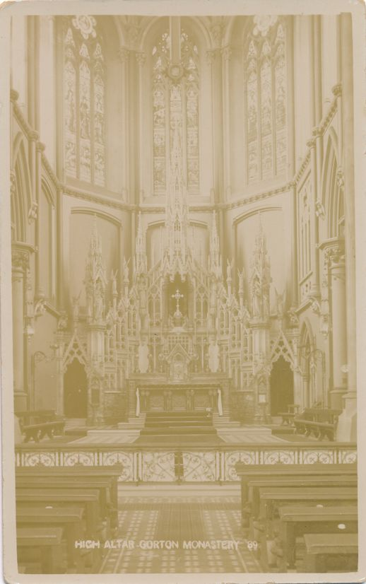 RPPC High Altar at Gorton Monastery - Manchester, England, United Kingdom - Real Photo