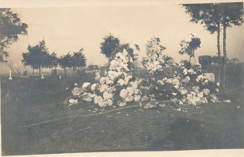 RPPC Here is our Darling Poor Hazels Grave - Cemetery - Gravestone - Real Photo