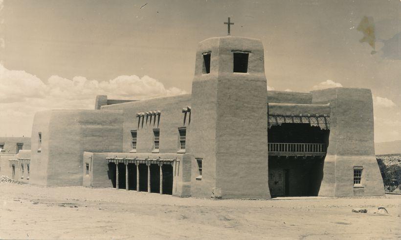 RPPC Cristo Rey Church Santa Fe, New Mexico - Real Photo