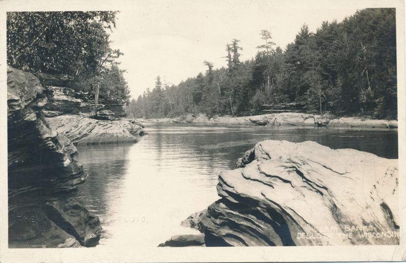 RPPC Clam Banks in the Dells of Wisconsin - Real Photo