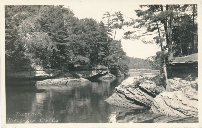 RPPC The Narrows at Wisconsin Dells - H H Bennett Photo - Real Photo