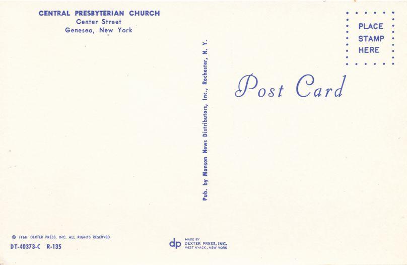 Central Presbyterian Church on Center Street - Geneseo, New York