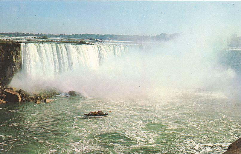 Maid of the Mist Tourist Boat at Horseshoe Falls - Niagara Falls, Ontario, Canada